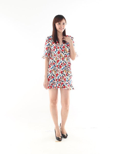 Heather Floral Playsuit (Size S)