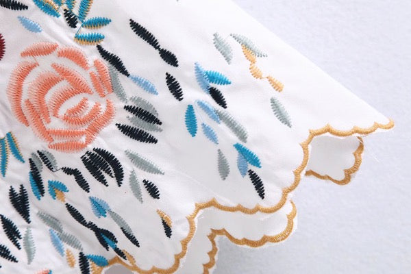 Yen Embroidery Top