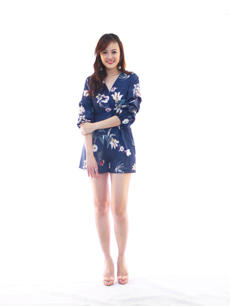 Trudy Floral Playsuit - White (Size S)
