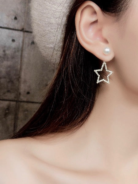 Star & Pearl Ear Ring