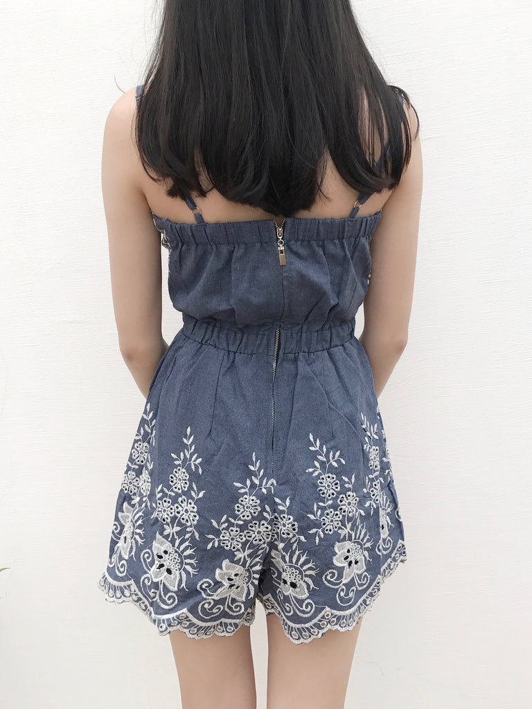 Rainie Denim Playsuit