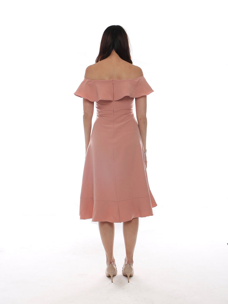 Alyssa Ruffles Dress - Pink (Size M)