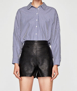 Charen faux leather shorts
