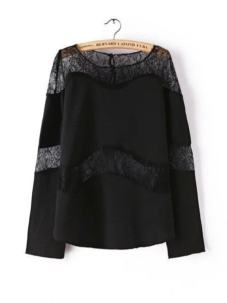 Belle Peekaboo Lace Blouse