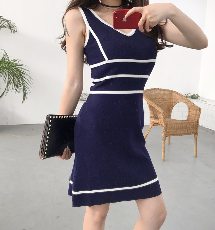 Dulson Knit Lined Dress
