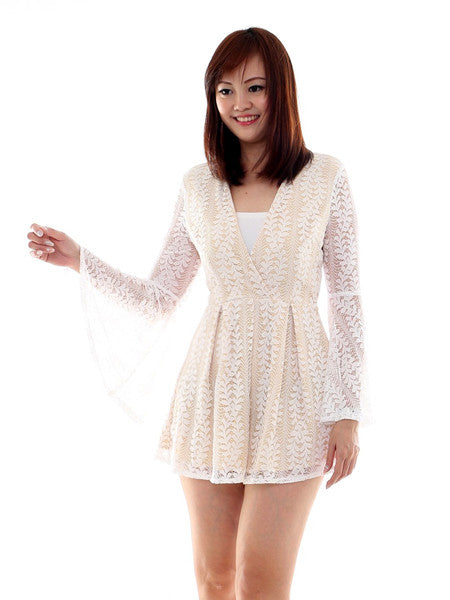 Ariel lace playsuit
