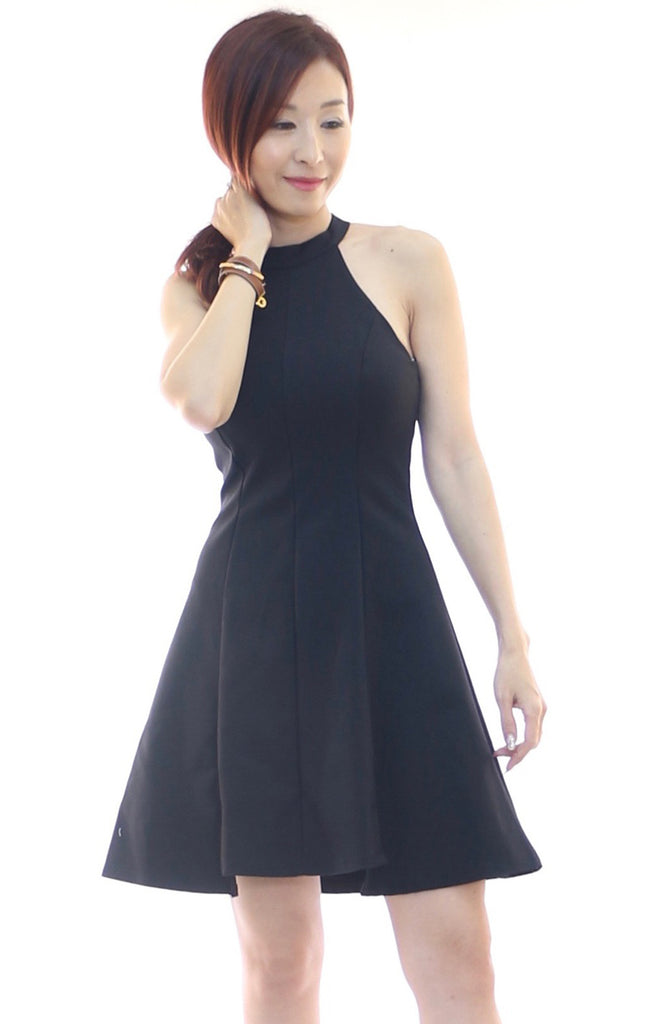 Astoria High collar skater dress