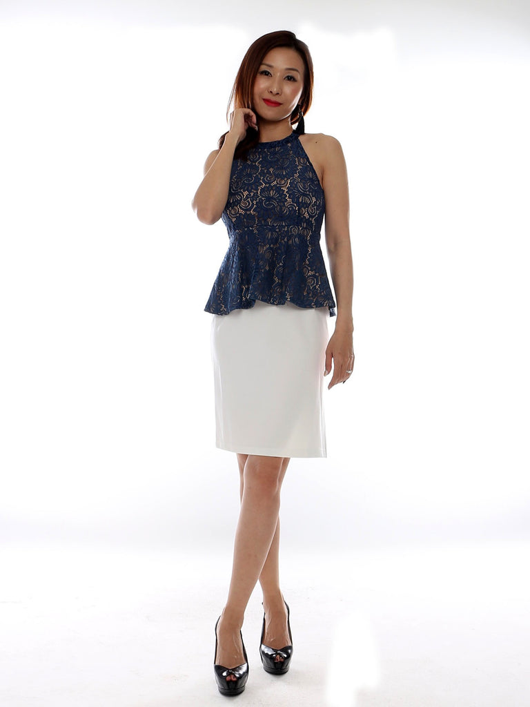 Ayui Lace Peplum top