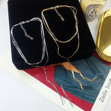 Bi layer Y necklace (2 col)