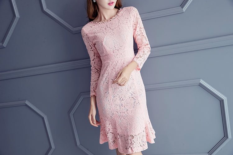 Brogel Lace Midi Dress