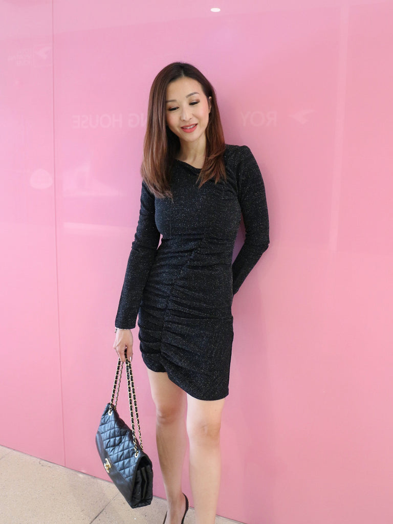 Charlet Glitter black dress