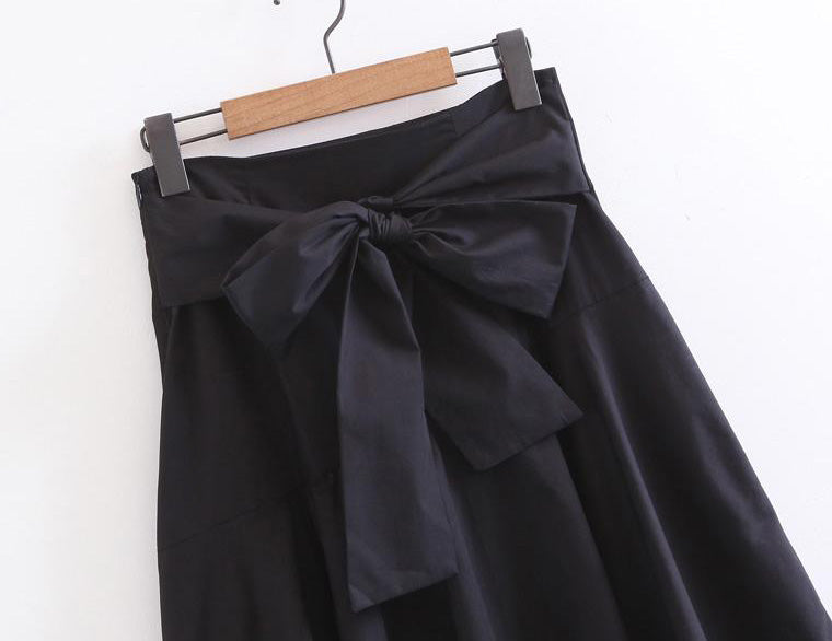 Cicil Ruffles Black Skirt