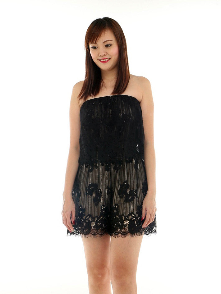 Fauce lace playsuit