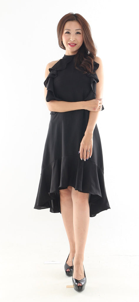 Luxe- Finn Hem Midi dress