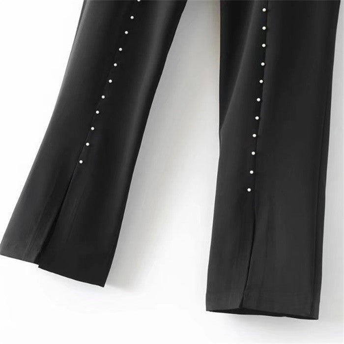 Fonnie Pearls trim pants
