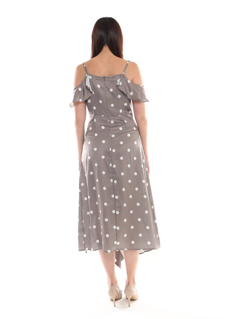 Gelfino Polka Dot Ruffles Dress