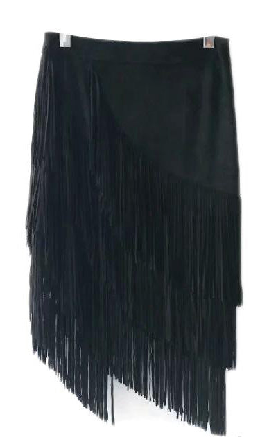 Helen Frilly Suede Skirt