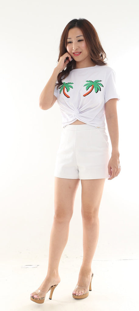 Lovli Palm Knotted Crop Top