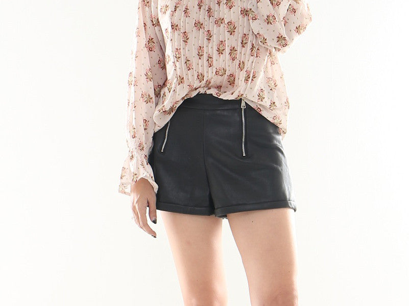 Otto leather shorts