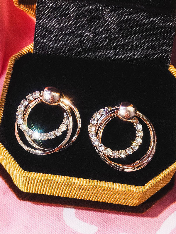 Picircle double ring earrings