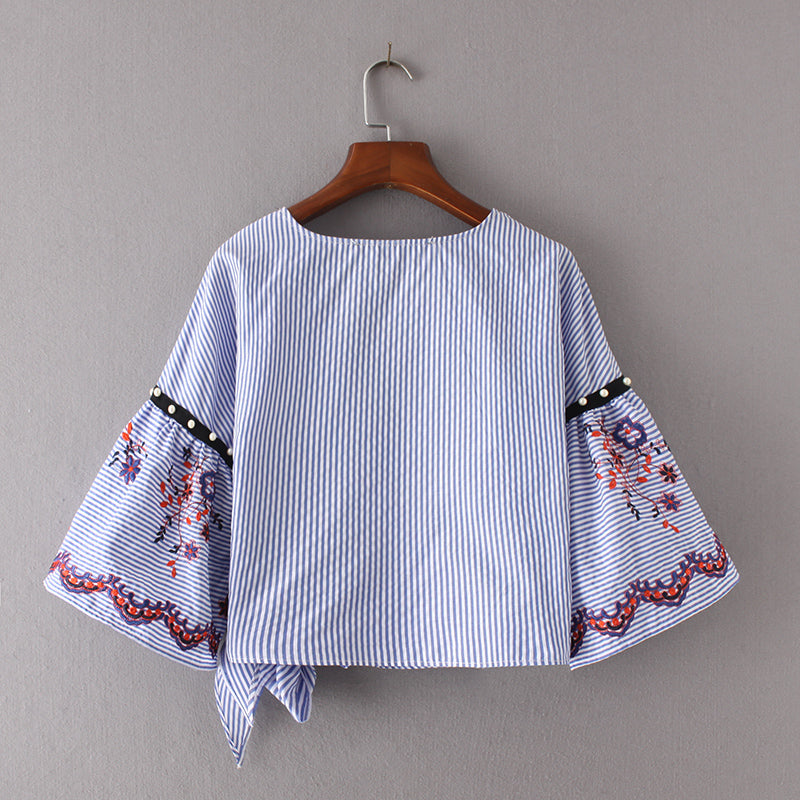 Rion striped whimsical top (Size S)