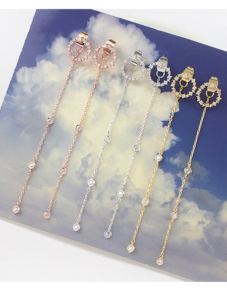 Tyan Diamante Long Earrings (3 col)
