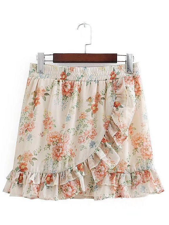 Wish floral 2 piece skirt set