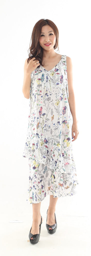 Wixi Printed Midi dress