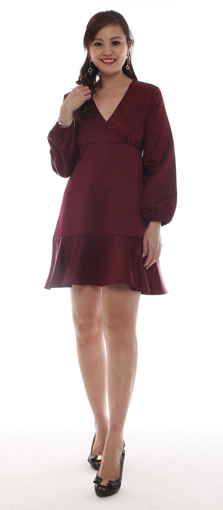 Yandi Ruby Frill dress