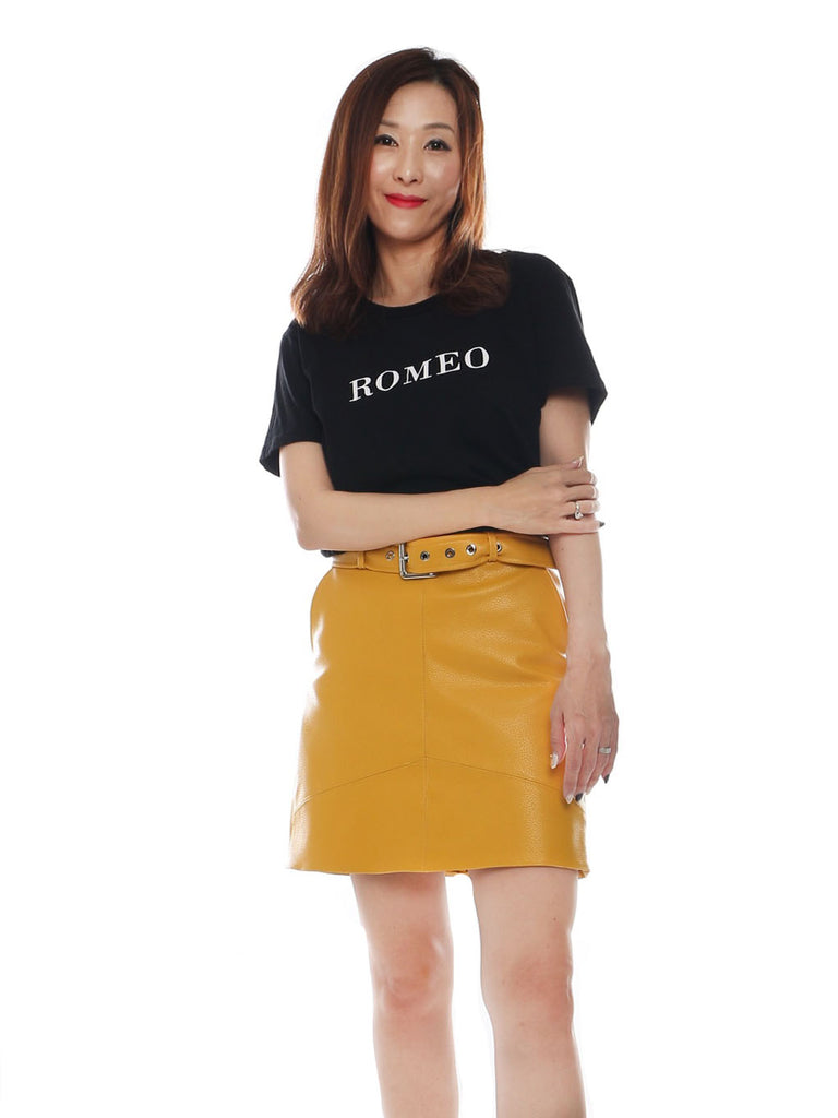 Yeshi PU leather skirt