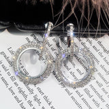 Yessy circle diamante earrings