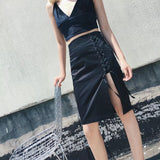 Yuenga Slit Skirt