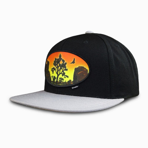 Desert Sunset Patch on Flat Bill Snapback Cap