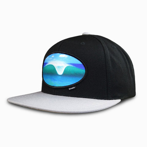 A-Frame Peak Wave Patch on Flat Bill Snapback Cap