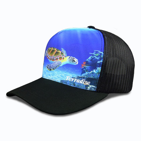 Sea Turtle - Snapback Trucker Cap