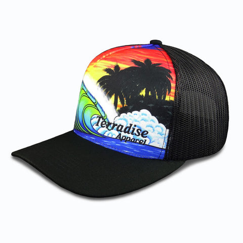 Blue Wave Sunset - Snapback Trucker Cap