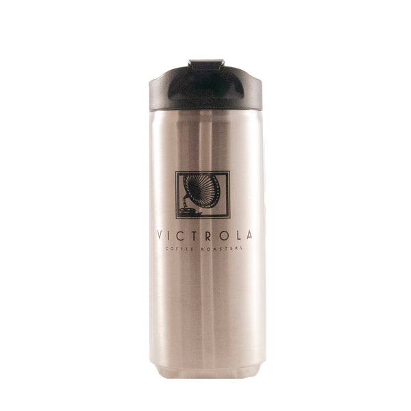 12oz Stainless Steel Travel Mug - Silver