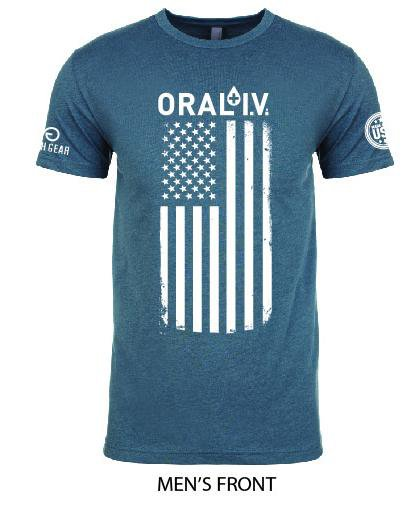 ORAL I.V. American Flag Shirt
