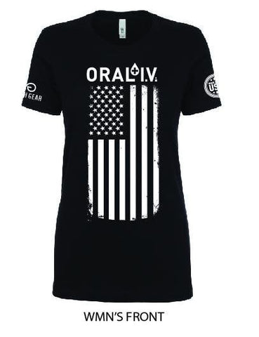 ORAL I.V. American Flag Women's Shirt