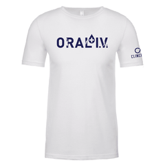 ORAL I.V. White Athlete Logo T-Shirt
