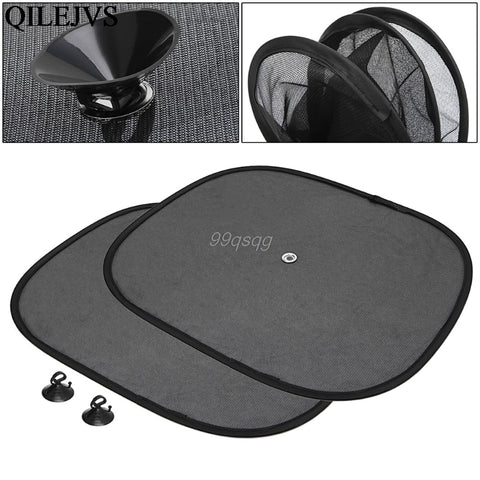 2Pcs Car Window Sunshade Sun Shade Visor Side Mesh Cover Shield Sunscreen Black  44 x 36 cm Drop shipping