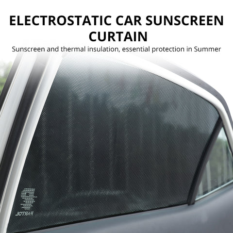 DIY Car Sun Shades Film Sun Protection Window Cover Black PVC Sunshade Side Window Shield with Small Holes