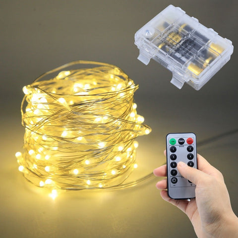 Remote Control Dimmable 8 Modes USB Led String Lights 10m 100 leds 5V 33FT Copper Wire  wedding party decoration Lighting
