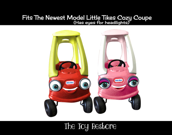 Replacements Decals Fits 2017 Cozy Coupe Car with Eyes on the Headlights