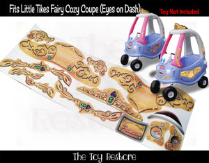 Golden Princess Replacement Stickers Fits Little Tikes Fairy Coupe Cozy Coupe Car