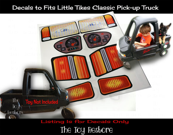The Toy Restore Replacement Stickers fits Little Tikes Classic Pick-up Truck