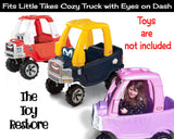 Personalized Replacement Stickers for 2017 Little Tikes Tykes Custom Cozy Truck with Blue Eyes on Dash Girl