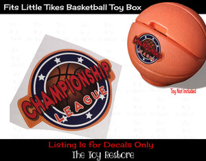 The Toy Restore Replacement Decals Stickers fits Vintage Little Tykes Tikes Basketball Toy Box