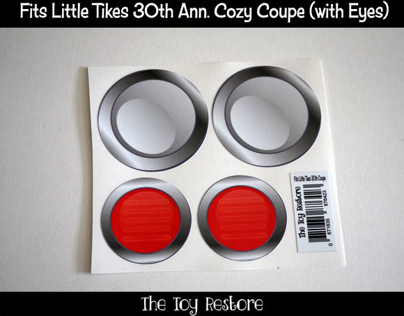 Headlight Decals Replacement Stickers fits 30th Anniversary Little Tikes Custom Cozy Coupe Car