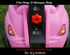 Decals Replacement Sticker Fits Step2 Newer Whisper Ride Buggy Ride-on Car